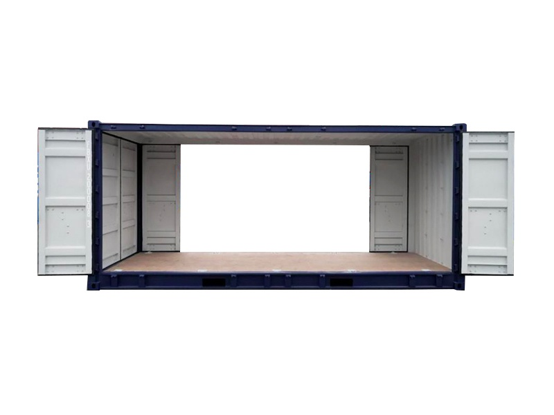 20' open side container with double end doors (20'DBLOS)