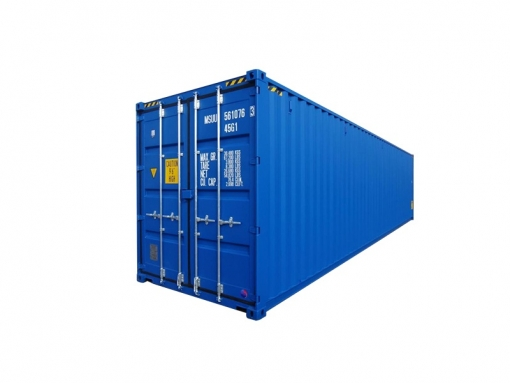 40' high-cube standard cargo container with single door (40'HC)